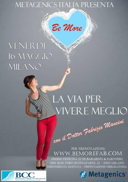 Locandina Be More - Milano