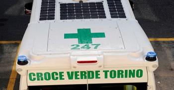 soccorso pannelli fotovoltaici Croce Verde biogas basso impatto ambientale ambulanza