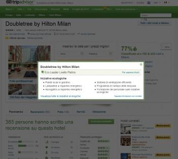 turismo tripadvisor pratiche green Hotels EcoLeader eco friendly criteri ambientali