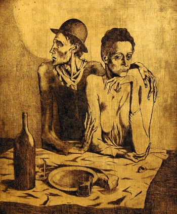 Pablo Picasso, Le Repas Frugal (The Frugal Meal), 1904 foto Foto by loungerie/Flickr