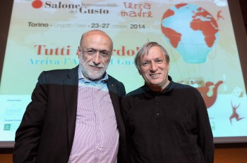 Carlo Petrini e don Luigi Ciotti
