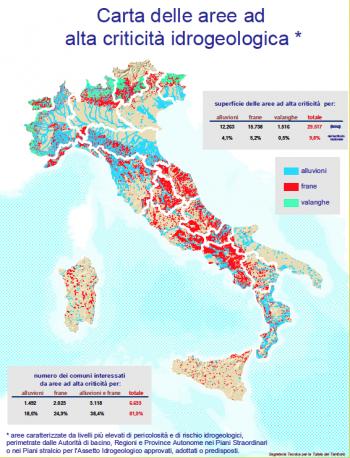Il rischio idrogeologico in Italia/Ministero dell'Ambiente