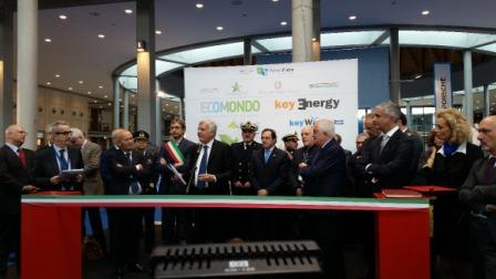 L'inaugurazione di Ecomondo con Ministro dell'Ambiente Gian Luca Galletti