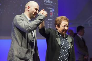 Shirin Ebadi con Roberto Saviano