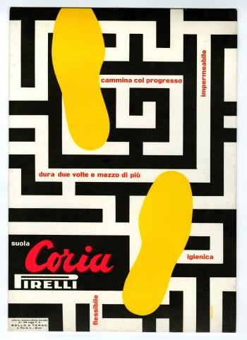 Bruno Munari_pubblicita della suola Coria_1953