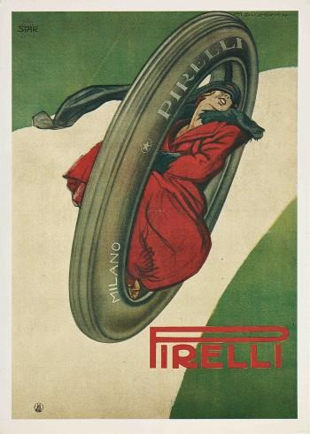 Marcello Dudovich_pubblicita pneumatici Pirelli_cartolina_1920