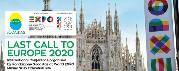 sostenibilità Last Call to Europe 2020 Fondazione Sodalitas #LastCall2020