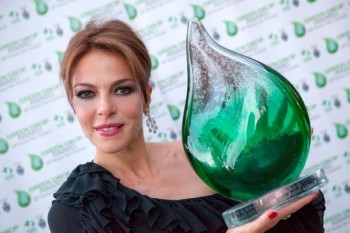 "Gerini, la prima ""madrina"" del Green Drop Award"