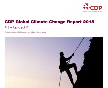 CDP Clobal Climate Change Report 2015