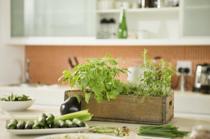Vegetables in the kitchen --- Image by © Fabrice Lerouge/Onoky/Corbis