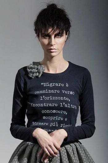 La t-shirt di Loredana Roccasalva (Foto Ufficio Stampa)