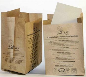 I sacchetti per l'umido Sumus in carta riciclata