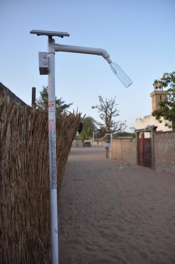 Lo Street light installato nel villaggio di Siné Mbarick