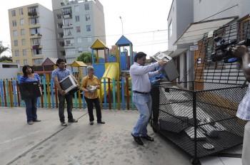 In Italia la media di raccolta dei rifiuti raee è di 3,8 kg pro capite, Foto Municipalidad de Miraflores