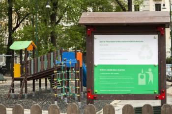 Parco delle Basiliche Milano: nuova area giochi in plastica riciclata