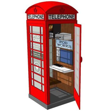 L'idea di trasformare una cabina telefonica in un micro ufficio è di una società americana