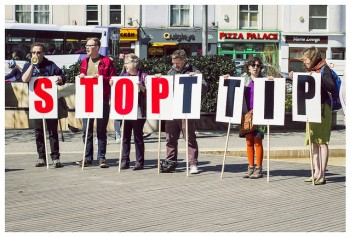 Il TTIP, accordo Usa-Ue fa discutere, foto: Global Justice Now/Flickr