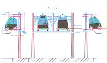 Lo schema del sistema combinato di mobilità elettrica per via sospesa dell'ingegnere Francesco Galvagno