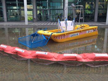 castalia, plastica galleggiante, fiumi