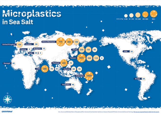 Microplastiche nel sale marino