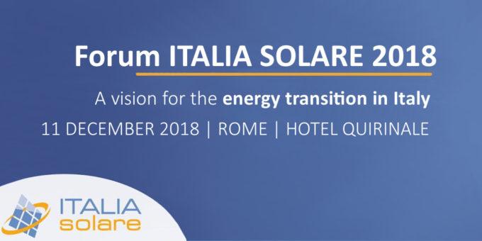 Forum ITALIA SOLARE 2018