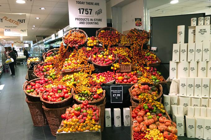 londra, supermercato, plastic-free