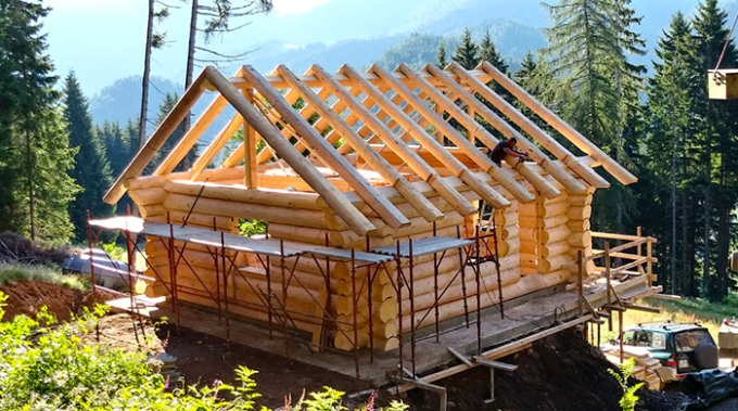 dietmar gansbacher, case in legno, blockbau