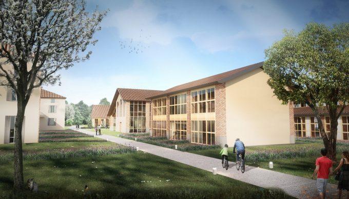 Cohousing Chiaravalle, un rendering
