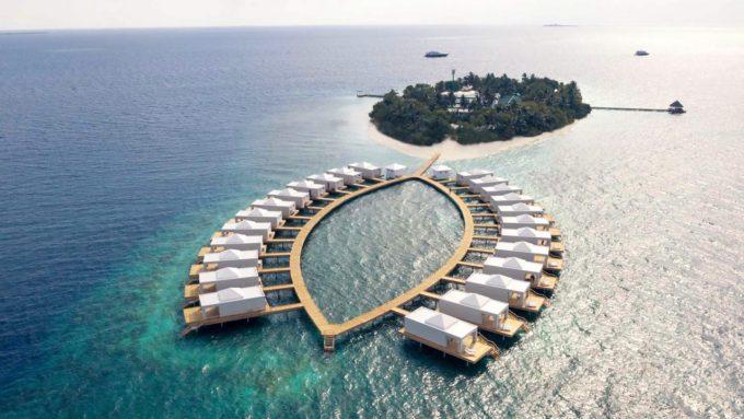maldive, bathala, ecoresort, legno, marlegno