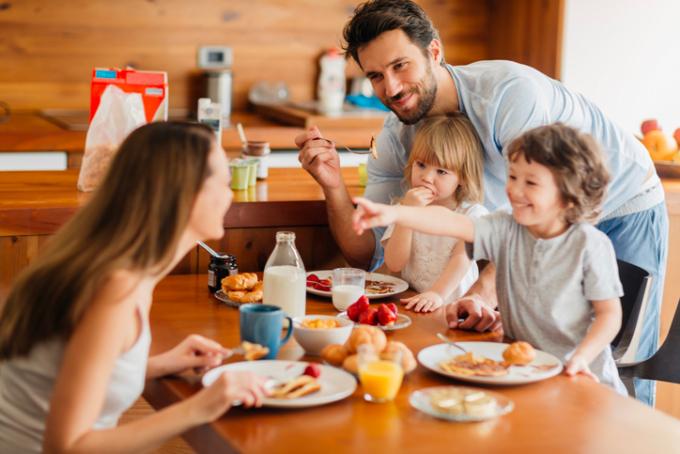 prima colazione, dieta, pane, cereali, latte