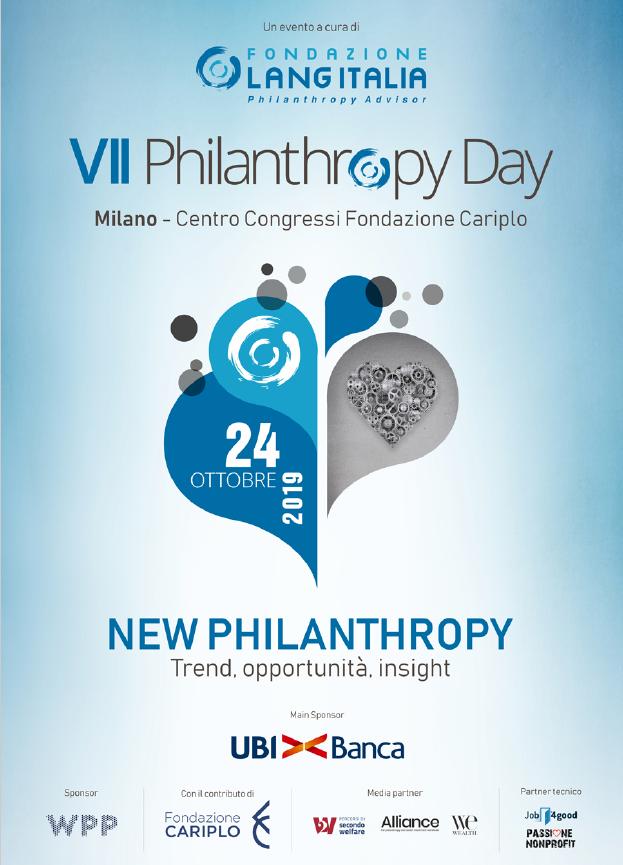Futuro, filantropia, Philanthropy Day, Fondazione Lang Italia