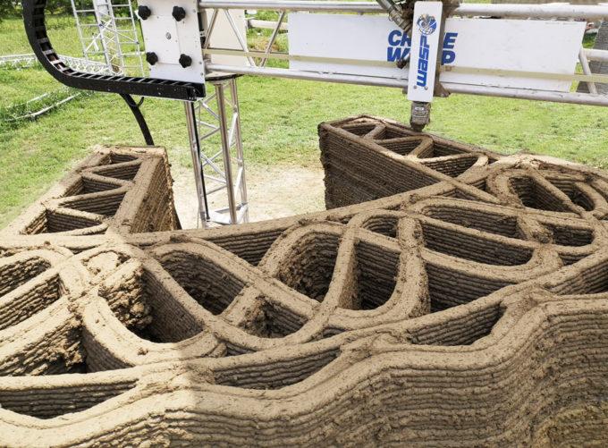 terra cruda stampa 3D sostenibilità ambientale scarto rispetto dellambiente riso resilienza Mapei Italo Calvino innovazione tecnologica edilizia ecosostenibile economia circolare costruzioni in 3D casa abitazione