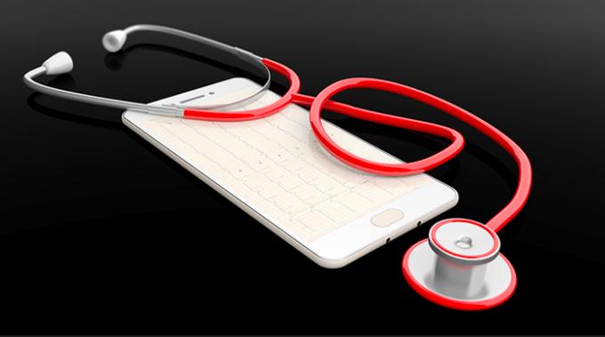 cuore, smartphone, frequenza cardiaca
