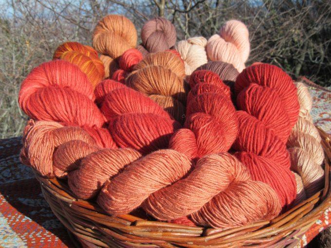 rosso di robbia, tinture naturali, michele pasini
