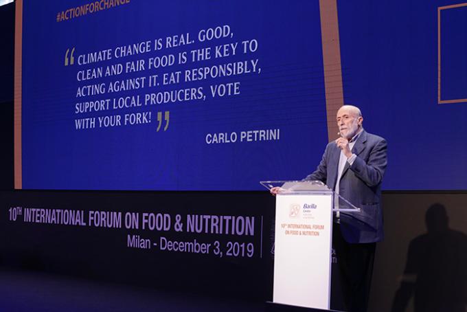 carlo petrini, forum, barilla, sviluppo sostenibile