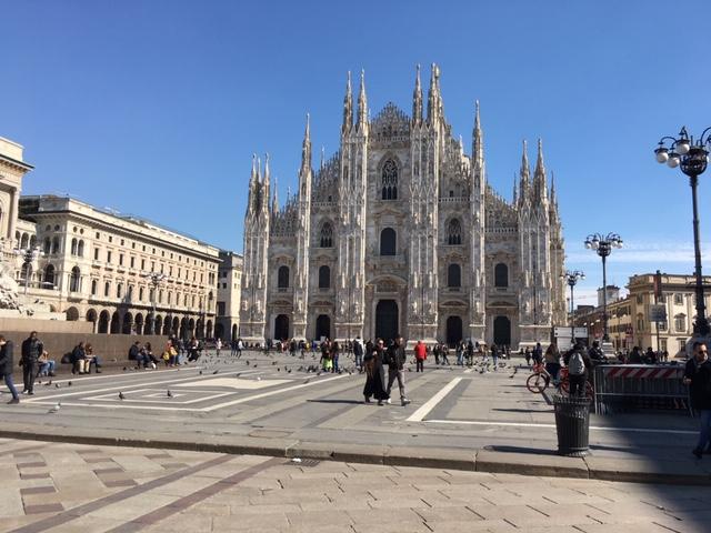 Piazza del Duomo col sole: una costante dell'inverno 2019/2020