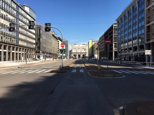 Empty streets of Milano