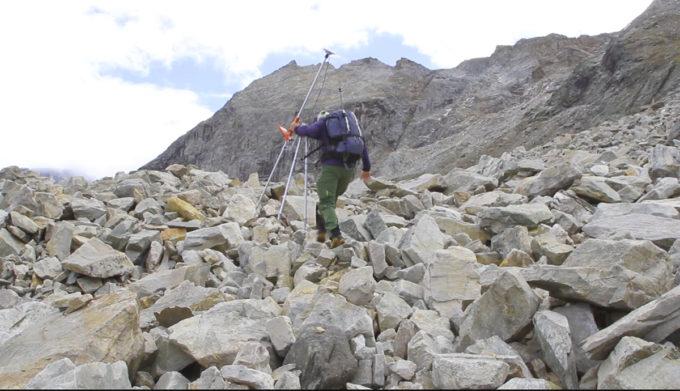 Il ghiacciaio roccioso di Stabbio di Largario in Svizzera