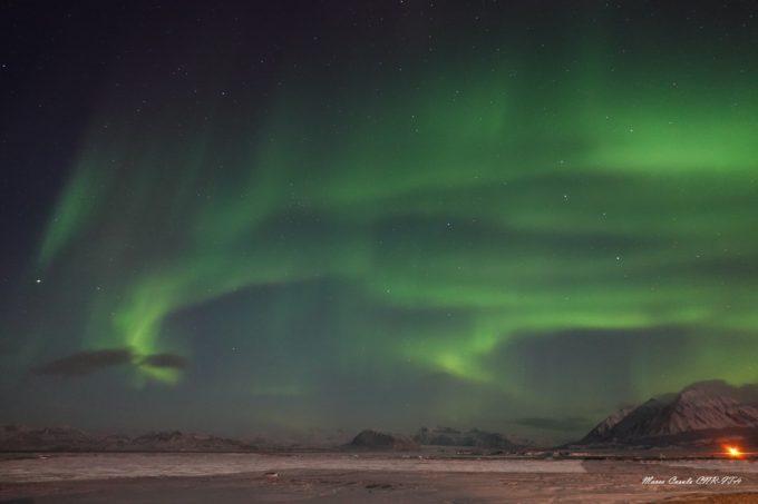 Aurora boreale al polo