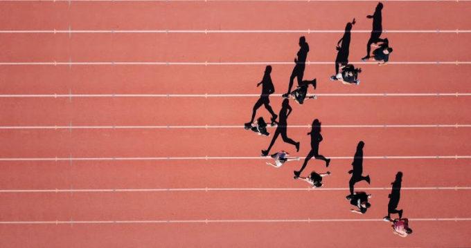 Atleti che corrono