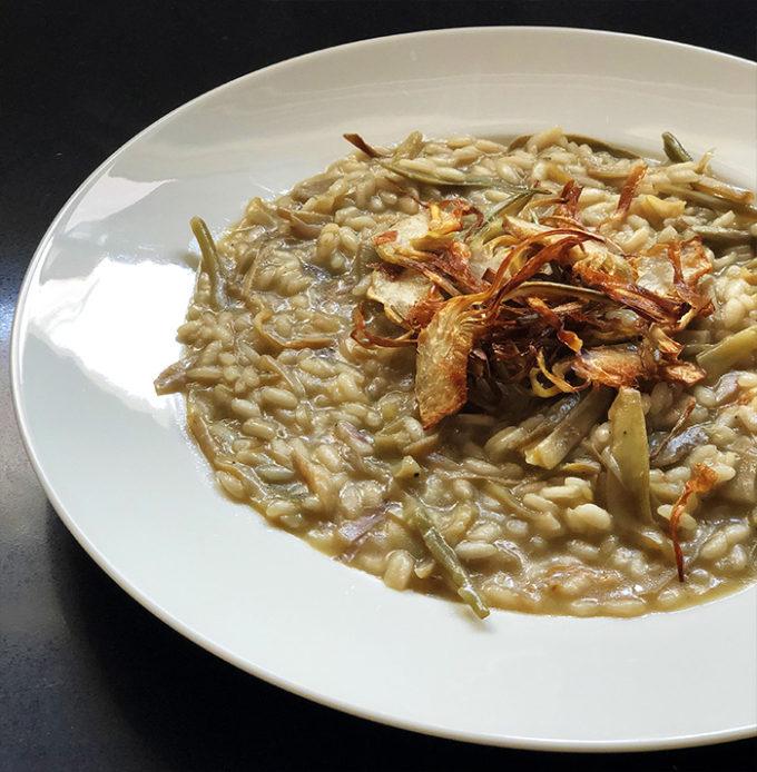 piatto risotto ai carciofi