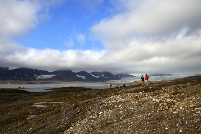 La superficie del permafrost in Groenlandia