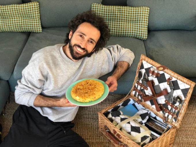 Franco Aliberti e la sua frittata di spaghetti