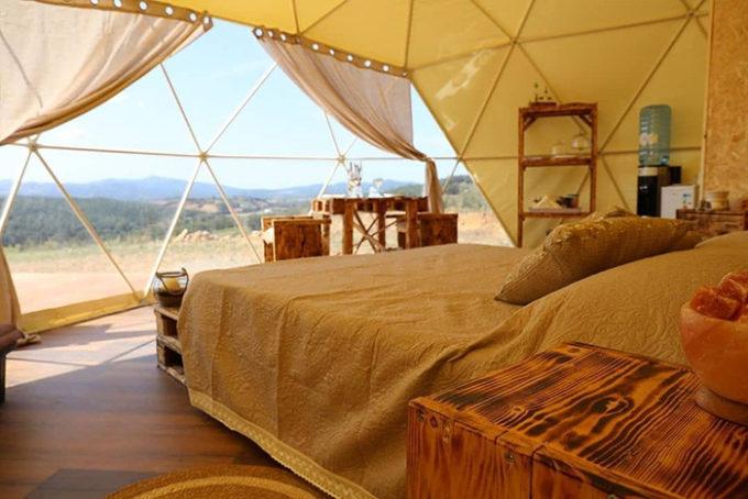 Interno di tenda