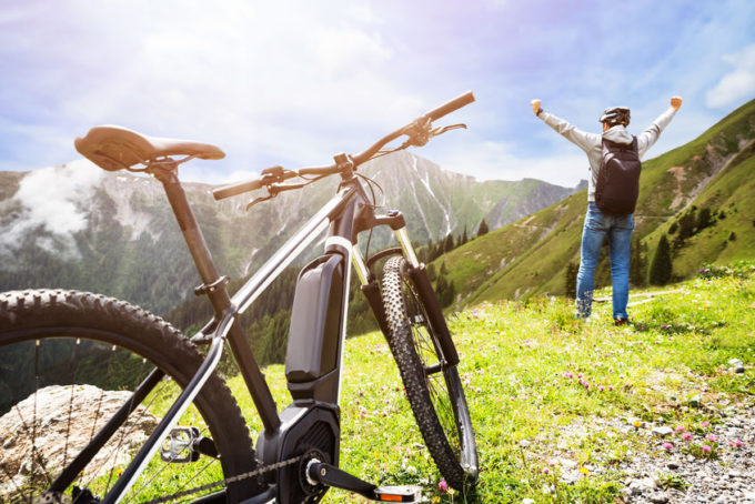 bicicletta in montagna