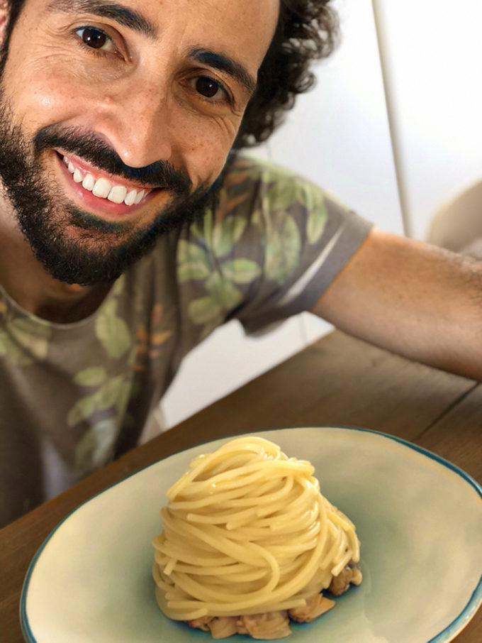 Spaghetti alle volgole con franco aliberti