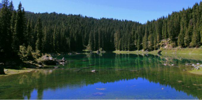 lago di carezza, dolomiti