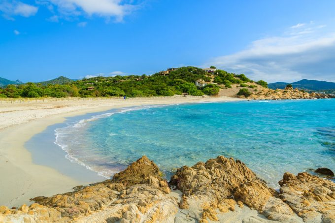 spiaggia di villasimius in Sardegna