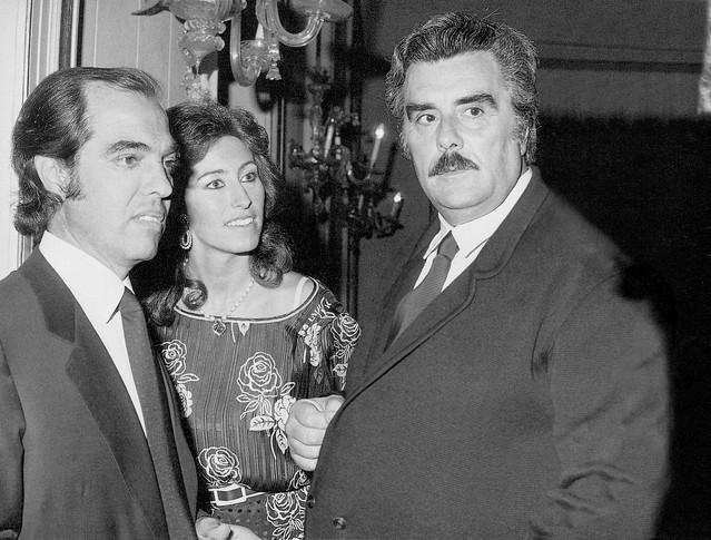 Vincenzo Muccioli con Letizia e Gian Marco Moratti