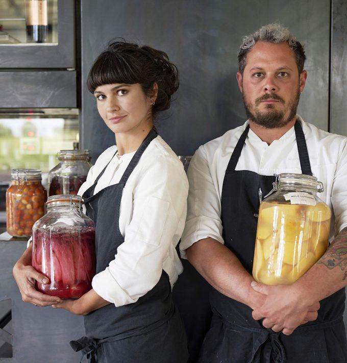 Chef Chiara Pavan e Chef Francesco Brutto del ristorante Venissa